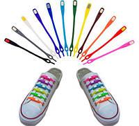 Силиконовые шнурки цветные 12 шт