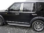 Молдинг дверних стійок (6 шт, нерж.) для Land Rover Discovery III