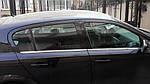 Наружняя окантовка стекол (4 шт, нерж) Sedan, OmsaLine - Итальянская нержавейка для Opel Astra H 2004-2013 гг.