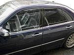 Нижня окантовка стекол (4 шт, нерж) Carmos - Турецька таль для Mercedes E-сlass W210 1995-2002 рр.