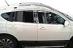 Хром дверных стоек (4 шт, нерж) OmsaLine - Итальянская нержавейка для Nissan Qashqai 2010-2014 гг.