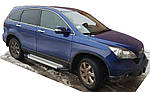 Бічні пороги Allmond Grey (2 шт., алюм.) для Honda CRV (2007-2011)