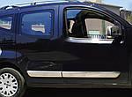 Молдинг дверний (4 шт, нерж) OmsaLine - Італійська нержавійка для Peugeot Bipper (2008↗)