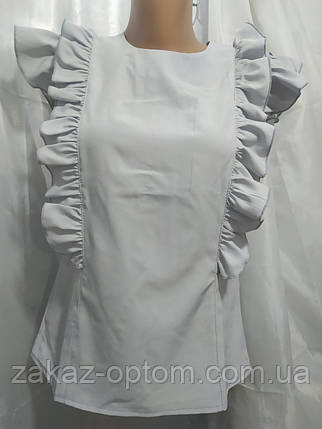 Блуза женская софт (42-48) Украина оптом-75010, фото 2