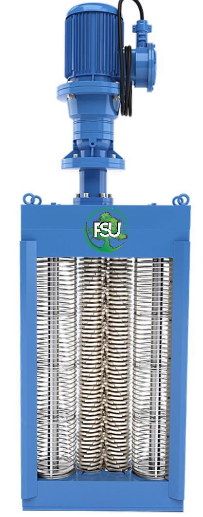 Каналізаційні решітки-дробарки з двома барабанами для установки в каналі до 11500 м3/год типу FSU