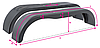 Крыло для легкового прицепа DOMAR, B=220*1500*350мм, пластик.