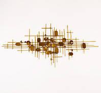 Настенный металлический декор Ноты золотой в стиле Арт деко Гранд Презент 60701