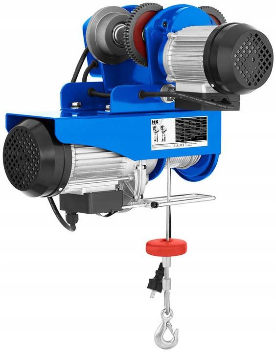 Тельфер електричний з кареткою MSW Motor Technics 500/1000 (висота підйому 10м/20м, з візком)