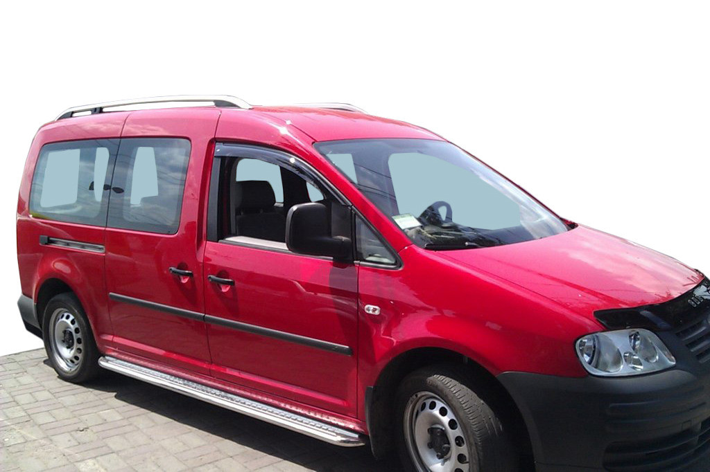 Бокові пороги Premium (2 шт., нерж) Стандартна база, d60 для Volkswagen Caddy (2010↗)