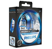 Автолампа галогенова H4 светло голубой свет  12V 60/55W PHILIPS