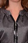 Куртка жакет женский на молнии  серый стальной большого размера, фото 7