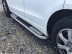 Боковые пороги Tayga V2 (2 шт, алюминий) для Lexus RX 2009-2015 гг.