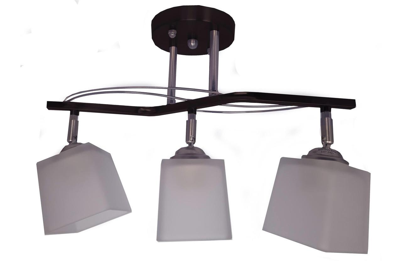 Люстра потолочная, поворотная 29-C612/3 BK+CR+WT (3лампы)