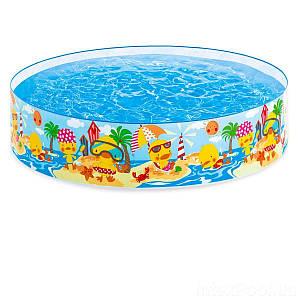 Дитячий каркасний басейн Intex 58477 «Утинный риф», 122 х 25 см, (Оригінал)