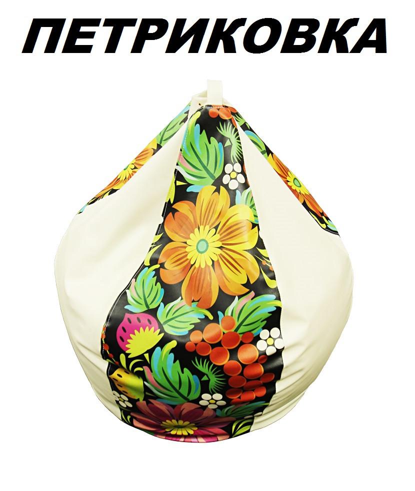 Кресло-Груша Принт Петриковка  (Матролюкс ТМ)