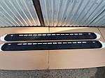 Бокові пороги OEM (2 шт., алюміній) для Nissan Patrol Y62 (2010↗)