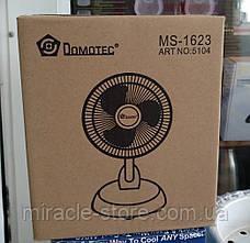 Настольный вентилятор с прищепкой Domotec MS-1623 (2 скорости, автоповорот) 15W, фото 3