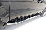 Бокові пороги Amazon Silver (2 шт., нерж) 70 мм для Mitsubishi L200 2006-2015 рр.