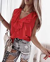 """Блузка жіноча молодіжна з воланом, розміри 42-48 (2цв) """"MILANI"""" недорого від прямого постачальника"""