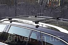 Багажник на рейлінги, чорні поперечини (алюміній) 120см \ 85кг.