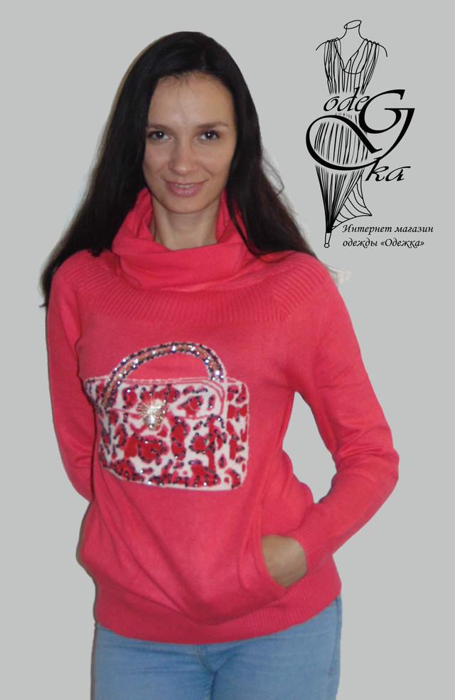 Фото-2 Модных свитеров с карманом кенгуру Аза SvAz01