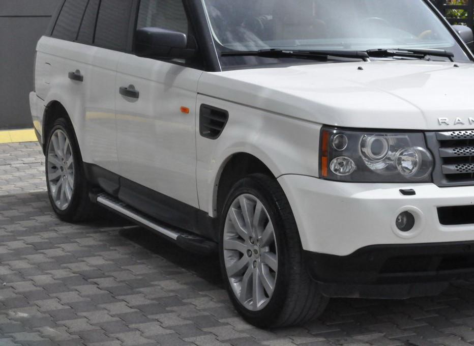 Бічні пороги Allmond Grey (2 шт., алюміній) для Range Rover Sport (2005-2013)
