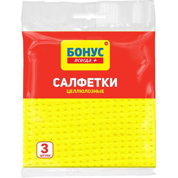 Бонус + салфетка целлюлоза 3 шт