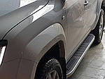 Боковые пороги Tayga V2 (2 шт., алюминий) для Chevrolet Niva