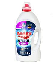 Mega Wash Жидкий гель для стирки Color 4,3 л