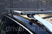 Багажник на рейлінги, чорні поперечини (алюміній) 160см \ 85кг.