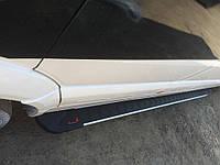 Бокові пороги RedLine V1 (2 шт., алюміній) Long/ExtraLong для Volkswagen Crafter 2006-2017 рр., фото 1
