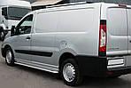 Бокові пороги Premium (2 шт., нерж.) 60 мм, довга база для Fiat Scudo 2007-2015 рр.