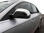 Накладки на зеркала 2008-2012 (2 шт., нерж) для Audi A6 C6 2004-2011 гг.