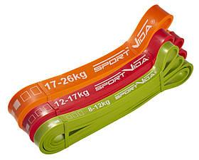 Эспандер-петля, резина для фитнеса и спорта SportVida Power Band 3 шт 8-26 кг SV-HK0190-5 SKL41-227849