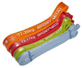 Еспандер-петля, гума для фітнесу та спорту SportVida Power Band 4 шт 0-26 кг SV-HK0190-2 SKL41-227204