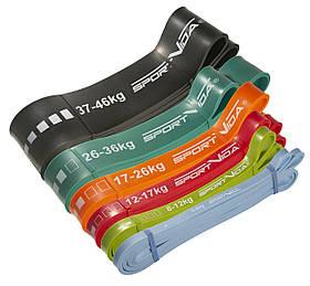 Еспандер-петля, гума для фітнесу та спорту SportVida Power Band 6 шт 0-46 кг SV-HK0190-3 SKL41-227205