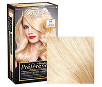 Краска для волос Loreal Preference 01 Светло-светло русый натуральный
