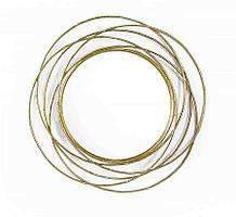 Настенное зеркало круглое из стекла и металла с золотой рамой Гранд Презент 91075