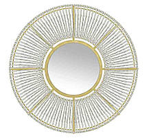 Настенное зеркало Колесо из стекла и металла Гранд Презент 95006