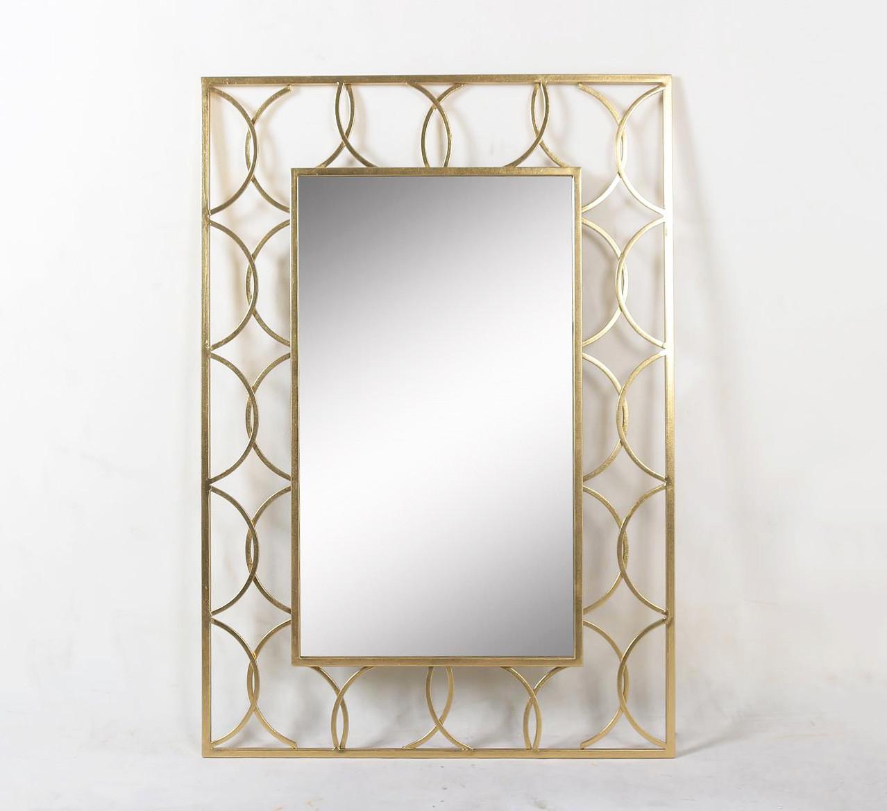 Настенное зеркало Арт деко золотой металл Гранд Презент 25013