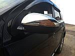 Накладки на зеркала (2 шт, нерж) OmsaLine - итальянская нержавейка для Nissan Qashqai 2010-2014 гг.
