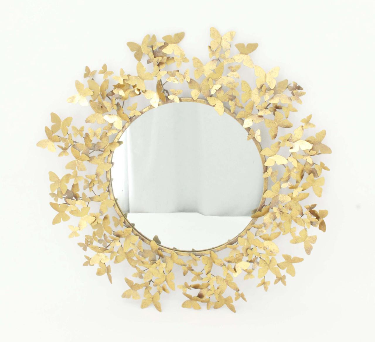 """Настенное зеркало """"Венок славы"""" из стекла и металла Гранд Презент 81173"""