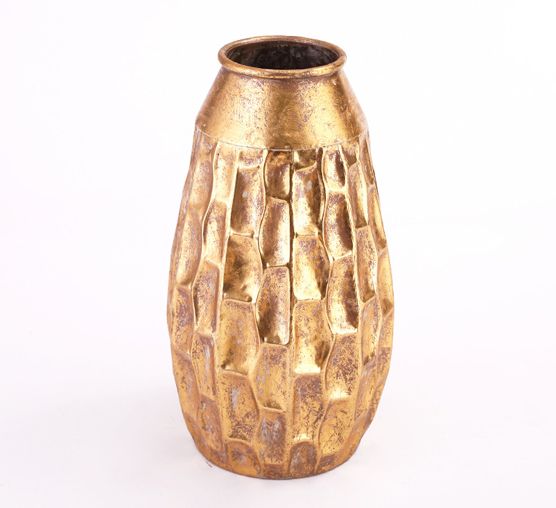 Ваза металева золота h39.5 см Гранд Презент 81311