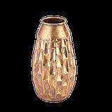 Ваза металева золота h39.5 см Гранд Презент 81311, фото 5
