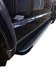 Боковые пороги Maya V1 (2 шт., алюминий) для Dodge Journey 2008↗ гг.
