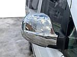 Накладки на зеркала Vito 2004-2010 (2 шт) Carmos - Турецкая сталь для Mercedes Vito W639 2004-2015 гг.