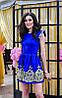 Платье женское короткое с набивным кружевом P234