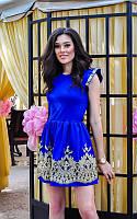 Платье женское короткое с набивным кружевом P234, фото 1
