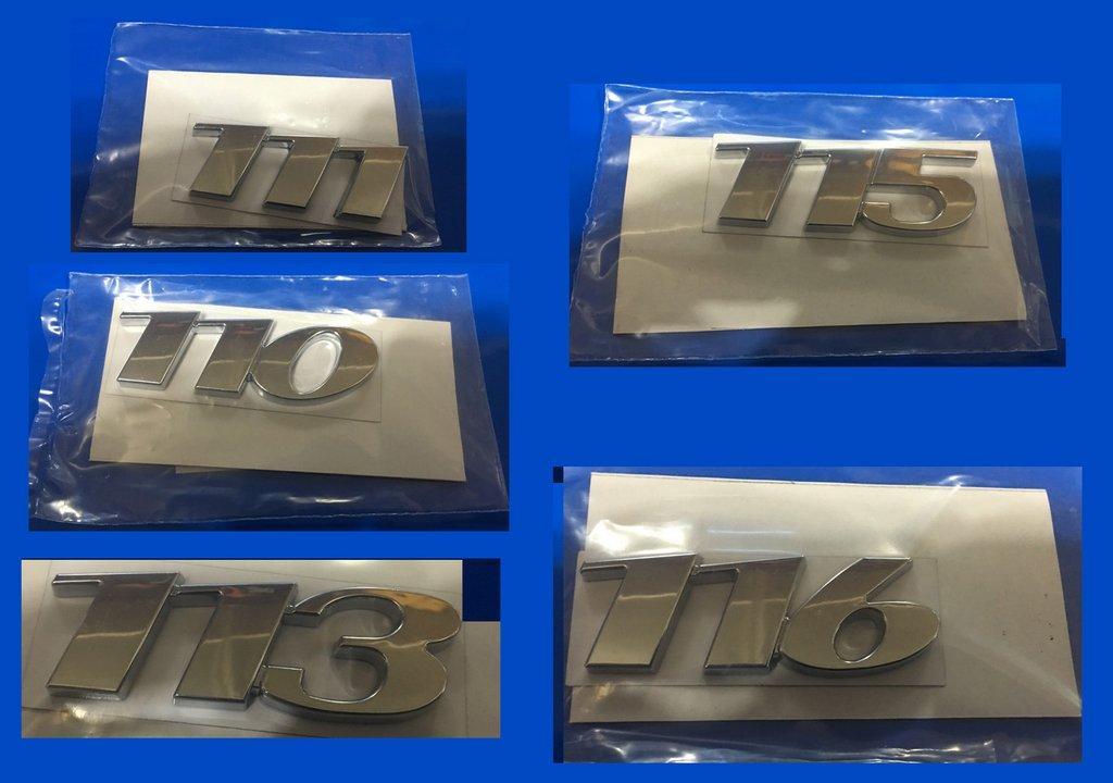 Надпись 110, 111, 113, 115, 116 (в ассортименте) 113, под оригинал для Mercedes Viano 2004-2015 гг.