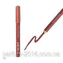 Стійка матова помада, контурний олівець блиск для губ Violet Lip Pencil №010 - Mocha